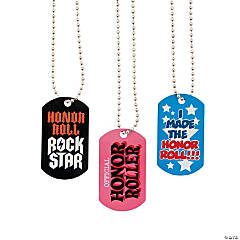 "Metal ""Honor Roll"" Dog Tag Necklaces"