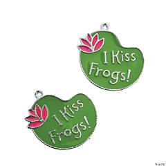 Metal I Kiss Frogs Enamel Charms