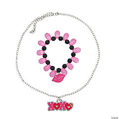 Metal iLuv™ XOXO Necklace & Bracelet Combo