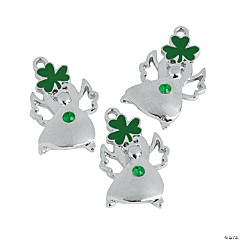 Metal Irish Blessing Angel Charms - 11mm