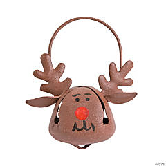 Metal Jingle Bell Reindeer Christmas Ornaments