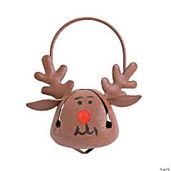 Metal Jingle Bell Reindeer Christmas Ornaments