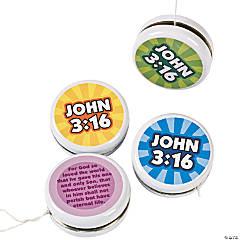 "Metal ""John 3:16"" YoYos"