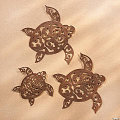 Metal Laser Cut Tribal Turtle Wall Décor