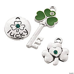 Metal Lucky Charms with Rhinestone