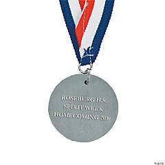 "Metal Medallions - Silver ""2nd Place"""