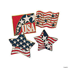 Metal Patriotic Pins