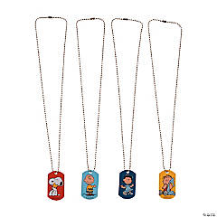 Metal Peanuts® Dog Tag Necklaces