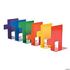 Metal Rainbow Bookends