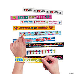 Metal Religious Slap Bracelet Assortment