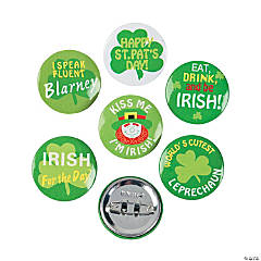 Metal Shamrock Mini Buttons