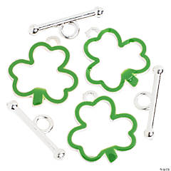 Metal Shamrock Toggle Clasps