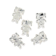 Metal Silvertone Girl Floating Charms - 5mm