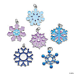 Metal Snowflake Charms - 22mm