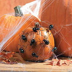 Metal Spider Pumpkin Push-Ins
