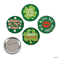 Metal St. Pat's Buttons