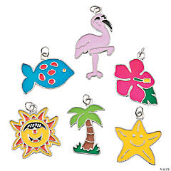 Metal Summer Fun Enamel Charms - 15mm - 31mm