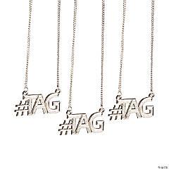 Metal #Tag Necklaces