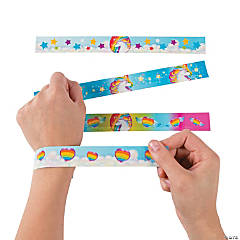 Metal Unicorn Slap Bracelets