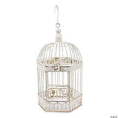 Metal White Bird Cage