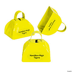 Metal Yellow Personalized Cowbells