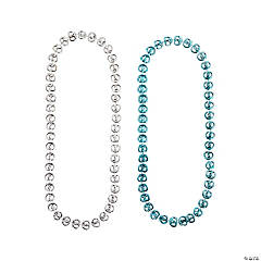 Metallic Beaded Pretzel Necklaces