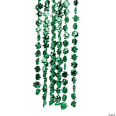 Metallic Beaded Shamrock Necklaces