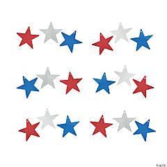 Metallic Cardboard Patriotic Stars