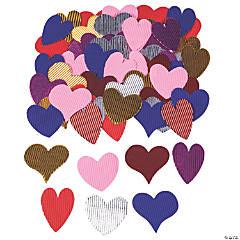 Metallic Corrugated Hearts
