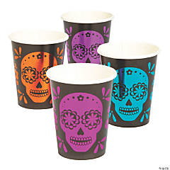 Metallic Day of the Dead Cups