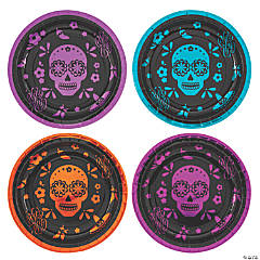 Metallic Day of the Dead Dinner Plates