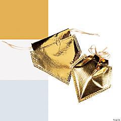 Metallic Drawstring Favor Bags