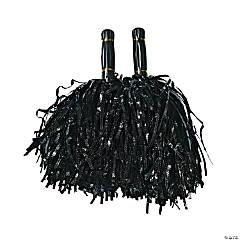 Metallic Foil Pom-Poms - Black