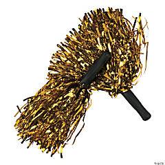 Metallic Foil Pom-Poms - Gold