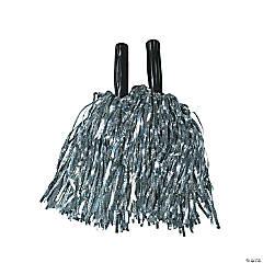 Metallic Foil Pom-Poms - Silver