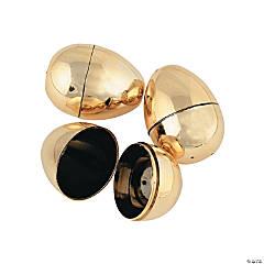 Metallic Golden Easter Eggs