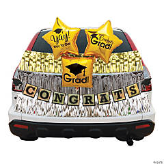 Metallic Graduation Car Parade Decorating Kit