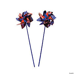 Metallic Jumbo Patriotic Pinwheels - 12 Pc.