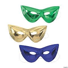 Metallic Mardi Gras Cat's-Eye Masks