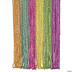 Metallic Neon Beaded Necklace Assortment