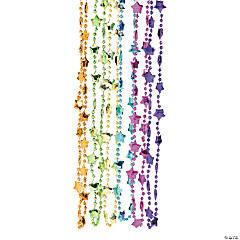 Metallic Neon Star Bead Necklaces