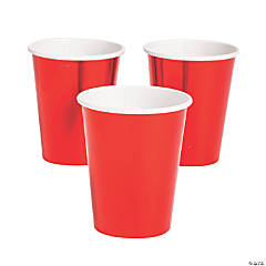 Metallic Red Paper Cups - 24 Ct.