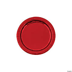 Metallic Red Paper Dessert Plates