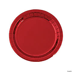 Metallic Red Paper Dinner Plates