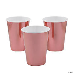 Metallic Rose Gold Paper Cups - 8 Ct.