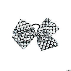 Metallic Silver Dance Star Hair Bow