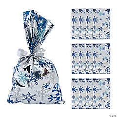 Metallic Snowflake Treat Bags