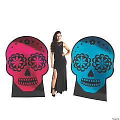 Metallic Sugar Skull Stand-Ups