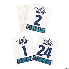 Mexican Floral Wedding Table Numbers