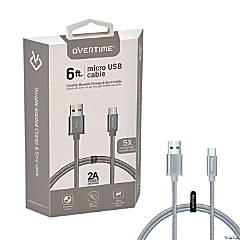 Micro USB Sync & Charge Cable - 6 ft.
